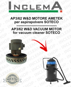 AP3/62 W&D Vacuum Motor Amatek for vacuum cleaner SOTECO