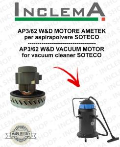 AP3/62 W&D MOTORE ASPIRAZIONE AMETEK per aspirapolvere SOTECO