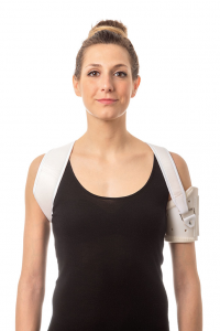 Shoulder brace for hemiplegics
