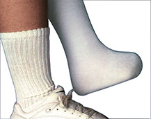 Partial foot sock