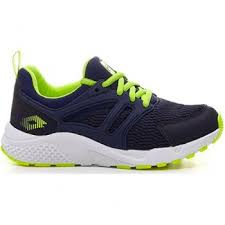 Sneakers Lotto Breeze II CL L, Bambino,  scarpa telata, ergonomica, Blue/Yellow Fluo, 210681 0KR