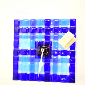 Orologio Vetro Di Murano Blu