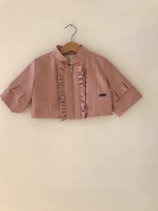 Giubbotto rosa con rouge