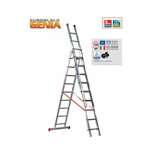 Scala Alluminio Componibile Genia 3 rampe