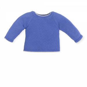 Maglioncino azzurro con dettaglio grigio
