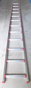 Scala Alluminio Conica Gradino Largo da mt.2.25 a mt.5.40