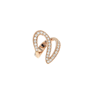 Anello Ivy in oro rosa e diamanti