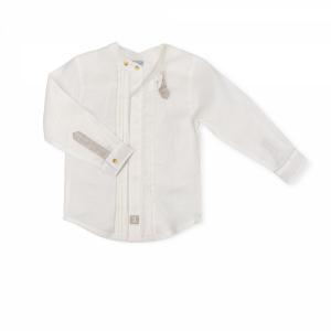 Camicia bianca con dettagli sabbia