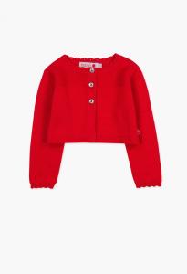 Cardigan rosso corto