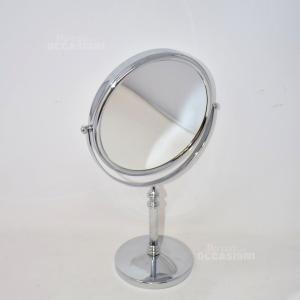 Specchio Base Bagno Doppia Lente 37cm