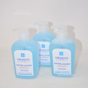 3 Sapone Liquido Virginiana Con Antimicrobico