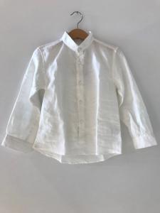 Camicia bianca con colletto coreano