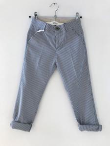 Pantalone blu con righe bianche