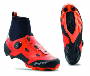 NORTHWAVE Winter MTB Shoes Raptor Arctic GTX lobster orange/black