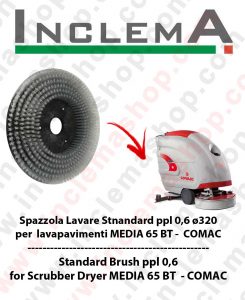 Strandard Wash Brush  in PPL 0,60 Dimension ø320 for scrubber dryer COMAC MEDIA 65 BT