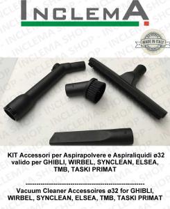 KIT Accesorios  aspiradora ø32 válido para GHIBLI, TMB, SYNCLEAN, WIRBEL, ELSEA, TASKI PRIMAT
