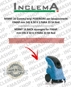 MINNY 16 Back Squeegee Rubber for scrubber dryer FIMAP