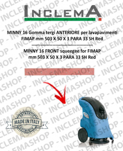 MINNY 16 Front Squeegee Rubber for scrubber dryer FIMAP