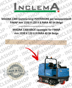 MAGNA 1300 Back Squeegee Rubber for scrubber dryer FIMAP