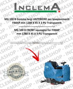 MG 100 B goma de secado delantera para fregadora FIMAP