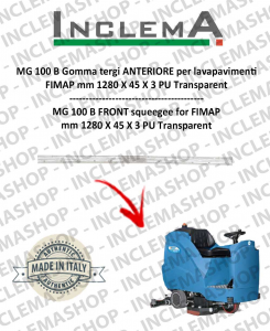 MG 100 B Vorne Sauglippen für Scheuersaugmaschinen FIMAP