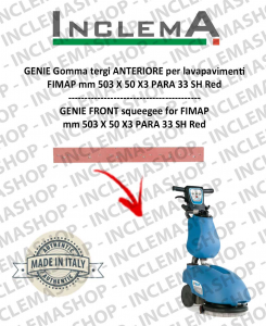 GENIE Front Squeegee Rubber for scrubber dryer FIMAP