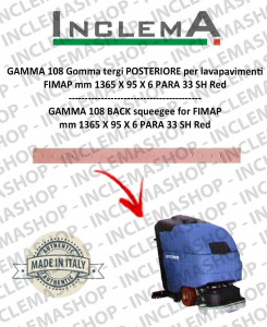 GAMMA 108 Back Squeegee Rubber for scrubber dryer FIMAP