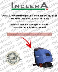 GAMMA 108 goma de secado trasero para fregadora FIMAP