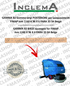 GAMMA 83 Back Squeegee Rubber for scrubber dryer FIMAP