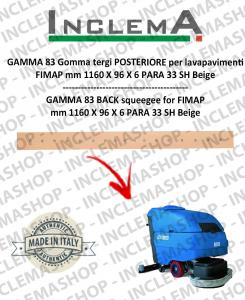 GAMMA 83 Gomma tergi POSTERIORE per lavapavimenti FIMAP