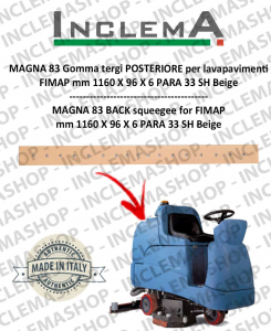 MAGNA 83 Back Squeegee Rubber for scrubber dryer FIMAP