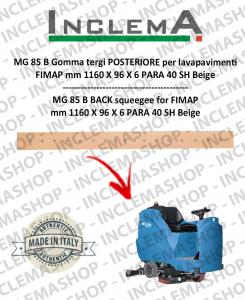 MG 85 B goma de secado trasero para fregadora FIMAP