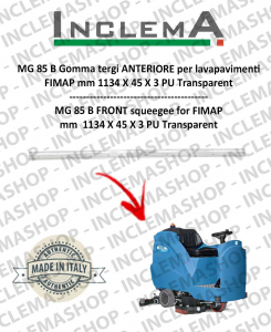 MG 85 B goma de secado delantera para fregadora FIMAP