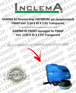 GAMMA 83 Front Squeegee Rubber for scrubber dryer FIMAP