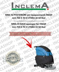 MMx 43 Gomma tergi POSTERIORE per lavapavimenti FIMAP (From s/n 211014837)