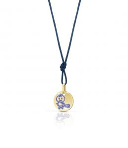 Ciondolo Zodiaco Acquario oro giallo