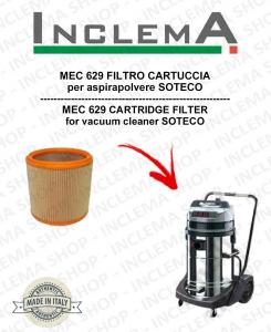 MEC 629 FILTRO CARTUCCIA per aspirapolvere SOTECO