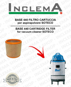 BASE 440 Cartridge Filter for Vacuum cleaner SOTECO