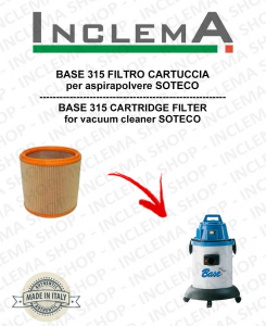 BASE 315 Cartridge Filter for Vacuum cleaner SOTECO