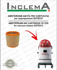 AMSTERDAM 440 Cartridge Filter for Vacuum cleaner SOTECO