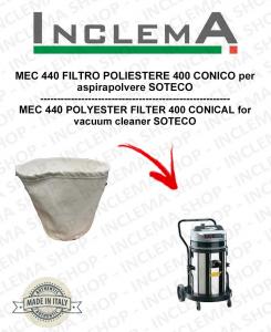 MEC 440 POLYESTERFILTER 440 CONICO für Staubsauger SOTECO