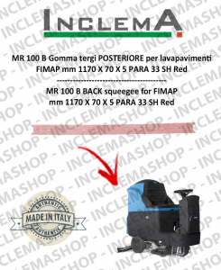 MR 100 B Back Squeegee Rubber for scrubber dryer FIMAP