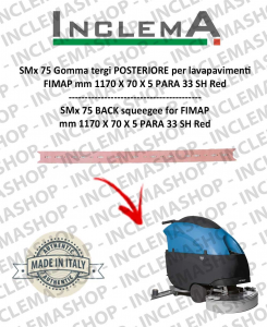 SMx 75 Back Squeegee Rubber for scrubber dryer FIMAP