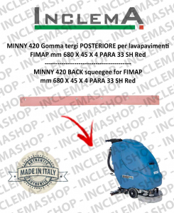 MINNY 420 goma de secado trasero para fregadora FIMAP