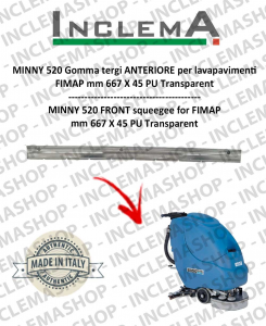 MINNY 520 Front Squeegee Rubber for scrubber dryer FIMAP