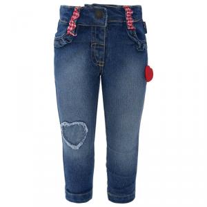 Jeans con cuori rossi e bianchi