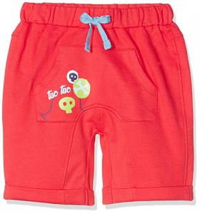 Pantaloncino di tuta rosso con stampa pirata