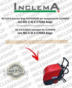 RA 510 B goma de secado trasero para fregadora CLEANFIX