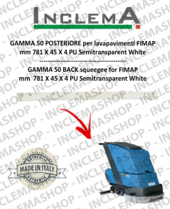 GAMMA 50 Back Squeegee Rubber for scrubber dryer FIMAP