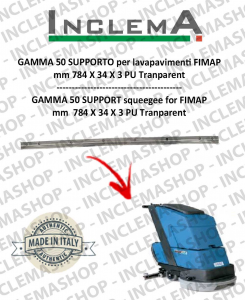 GAMMA 50 Gomma tergi SUPPORTO per lavapavimenti FIMAP